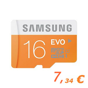 Samsung 16GB Micro SD Card SDHC UHS-I Card 48MBs Transfer Speed
