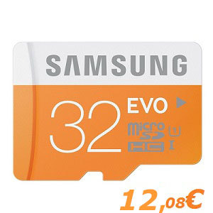Samsung 32GB Class 10 Micro SD SDHC UHS-I Card 48MBs Transfer Speed